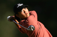 March 26, 2004; Rancho Mirage, CA, USA;  14 year old amateur Michelle Wie tees off on the 2nd hole during the 2nd round of the LPGA Kraft Nabisco golf tournament held at Mission Hills Country Club.  Wie finished the day  with an even par 72.<br />Mandatory Credit: Photo by Darrell Miho <br />&copy; Copyright Darrell Miho