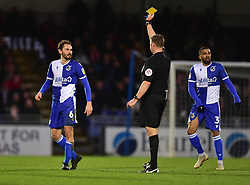 Edward Upson of Bristol Rovers is booked - Mandatory by-line: Alex James/JMP - 11/01/2020 - FOOTBALL - Memorial Stadium - Bristol, England - Bristol Rovers v Doncaster Rovers - Sky Bet League One
