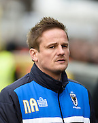Wimbledon manager Neal Ardley during the Sky Bet League 2 match between AFC Wimbledon and Oxford United at the Cherry Red Records Stadium, Kingston, England on 27 February 2016. Photo by David Charbit.