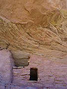 Anasazi ruins in Lower Mule Canyon, Comb Ridge, San Juan County, Utah.