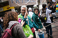 Milano, 1° maggio 2015. Mayday contro Expo 2015. Azioni No Expo.