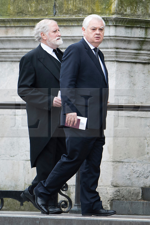 © London News Pictures.17/04/2013. London, UK.  Former Chancellor of the Exchequer, Norman Lamont arriving at St Paul's Cathedral in London for The Funeral of former British Prime Minister, Margaret Thatcher on April 17, 2013. Photo credit : Ben Cawthra/LNP