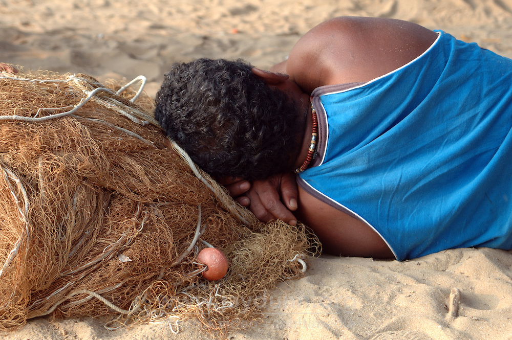 Sri Lanka, Beruwala, 2006. The 2004 tsunami rearranged traditional fishing grounds. Local fishermen have adapted their hard-won knowledge, but often come home empty-handed.