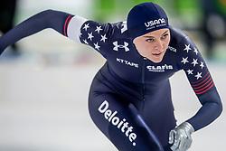 10-11-2017 NED: ISU World Cup, Heerenveen<br /> 500 m women, Heather Bergsma
