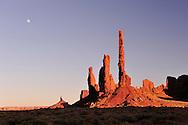 Totem pole,Navajo Indian Reservation,Monument Valley Tribal Park, Arizona,USA