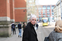 Manchester 09.04.2018 School  teacher  Deborah Lowe 55 . Appears  at MInshull Street Crown Court on the  first day of her trial. SHe is accused of  5 counts of sexual activity with a child  by a person in a position of  trust and  1 count of sexual activity  with a child.  The boy was aged 15  when the activity was supposed to have started and  turned 16 during the span of the offences