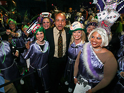 Feb 23rd, 2006. New Orleans, Louisiana. The Krewe of Muses pre float baording party at The Venue club. Muses is the only all women's Krewe to parade in New Orleans and is known for its satire, famous shoe throws and is generally considered one of the most popular parades of the Mardi Gras. New Orleans  Mayor Ray Nagin is mobbed by the women of Muses.