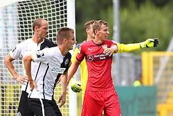 19.07.2015, Scholz Arena, Aalen, GER, Testspiel, VfR Aalen vs VfB Stuttgart, im Bild Matthias Morys ( VfR Aalen ) Dominick Drexler ( VfR Aalen ) Daniel Schwaab ( VfB Stuttgart ) // during the Friendly Football Match between VfR Aalen and VfB Stuttgart at the Scholz Arena in Aalen, Germany on 2015/07/19. EXPA Pictures © 2015, PhotoCredit: EXPA/ Eibner-Pressefoto/ Langer<br /> <br /> *****ATTENTION - OUT of GER*****