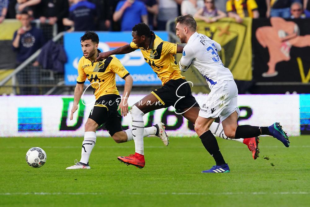 (L-R) *Mounir El Allouchi* of NAC Breda, *Umar Sadiq* of NAC Breda, *Guram Kashia* of Vitesse