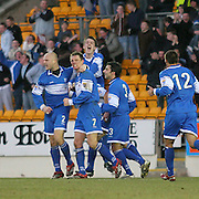 in action for St Johnstone in the Scottish First Division match against Gretna on 27th January 2007.