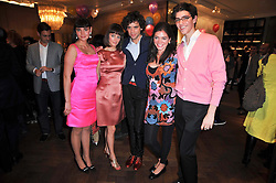Left to right, Zuleika Penniman, Yasmine Penniman, singer Mika Penniman, Paloma Penniman and Fortune Penniman at the launch party of 'Songs For Sorrow' hosted by Alber Elbaz and Mika held at Lanvin, 32 Savile Row, London on 11th November 2009.