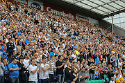 Preston fans during the Sky Bet Championship match between Preston North End and Middlesbrough at Deepdale, Preston, England on 9 August 2015. Photo by Simon Davies.