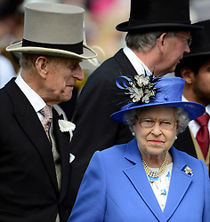 © Licensed to London News Pictures. 02/06/2012. London, UK. HRH Queen Elizabeth and HRH the Duke of Edinburgh  at The Investic Derby Festival today 2nd June 2012. The Royal Jubilee celebrations. Great Britain is celebrating the 60th  anniversary of the countries Monarch HRH Queen Elizabeth II accession to the throne this weekend Photo credit : Stephen Simpson/LNP