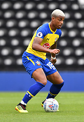 """Southampton's Mario Lemina during a pre season friendly match at Pride Park, Derby. PRESS ASSOCIATION Photo. Picture date: Saturday July 21, 2018. Photo credit should read: Anthony Devlin/PA Wire. EDITORIAL USE ONLY No use with unauthorised audio, video, data, fixture lists, club/league logos or """"live"""" services. Online in-match use limited to 75 images, no video emulation. No use in betting, games or single club/league/player publications."""