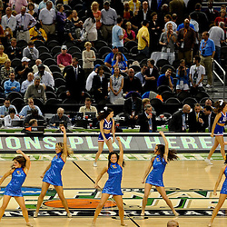 Apr 2, 2012; New Orleans, LA, USA; Kansas Jayhawks dancers perform during halftime of the finals of the 2012 NCAA men's basketball Final Four against the Kentucky Wildcats at the Mercedes-Benz Superdome. Mandatory Credit: Derick E. Hingle-US PRESSWIRE