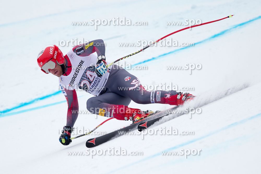 27.02.2015, Kandahar, Garmisch Partenkirchen, GER, FIS Weltcup Ski Alpin, Abfahrt, Herren, 2. Training, im Bild Marco Sullivan (USA) // Marco Sullivan of the USA in action during the 2nd trainings run for the men's Downhill of the FIS Ski Alpine World Cup at the Kandahar course, Garmisch Partenkirchen, Germany on 2015/27/02. EXPA Pictures © 2015, PhotoCredit: EXPA/ Johann Groder