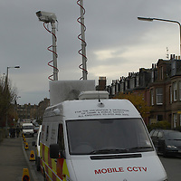 Police CCTV camera mobile unit, Edinburgh<br />