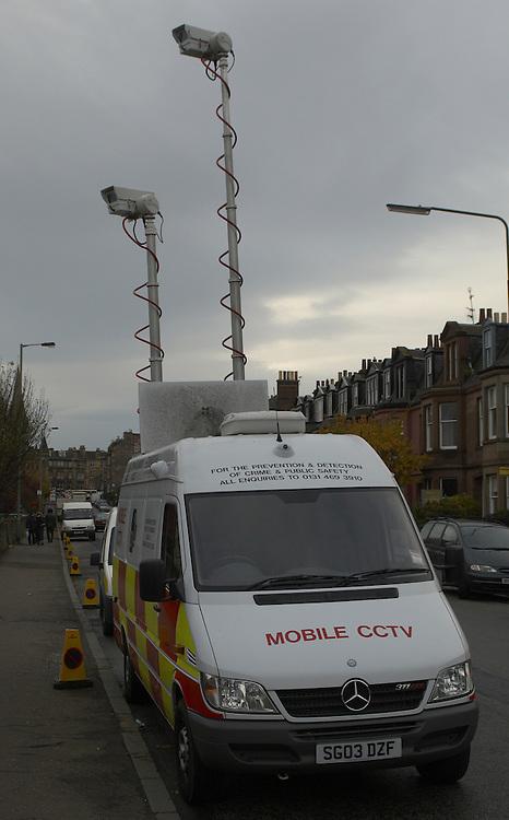 Police CCTV camera mobile unit, Edinburgh<br />