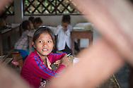 A young laotian girl in a classroom, Luang Namtha, Laos, Southeast Asia