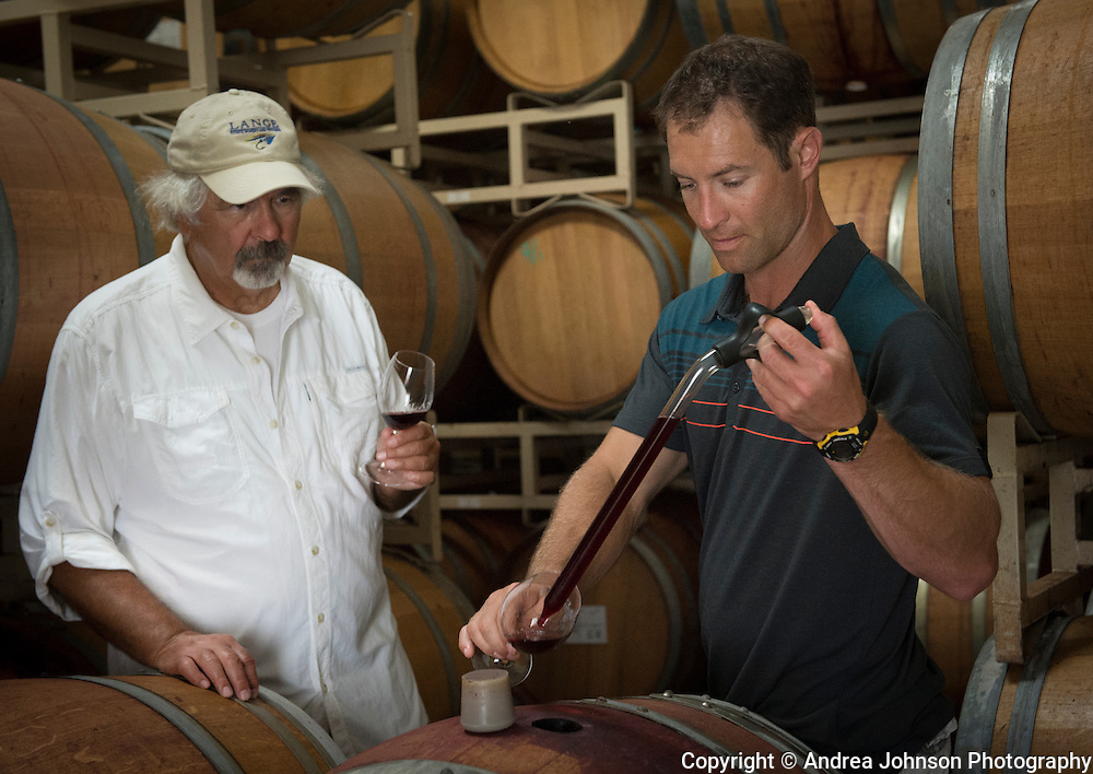 Jesse & Don Lange, Lange Winery, Dundee Hills, Willamette Valley, Oregon