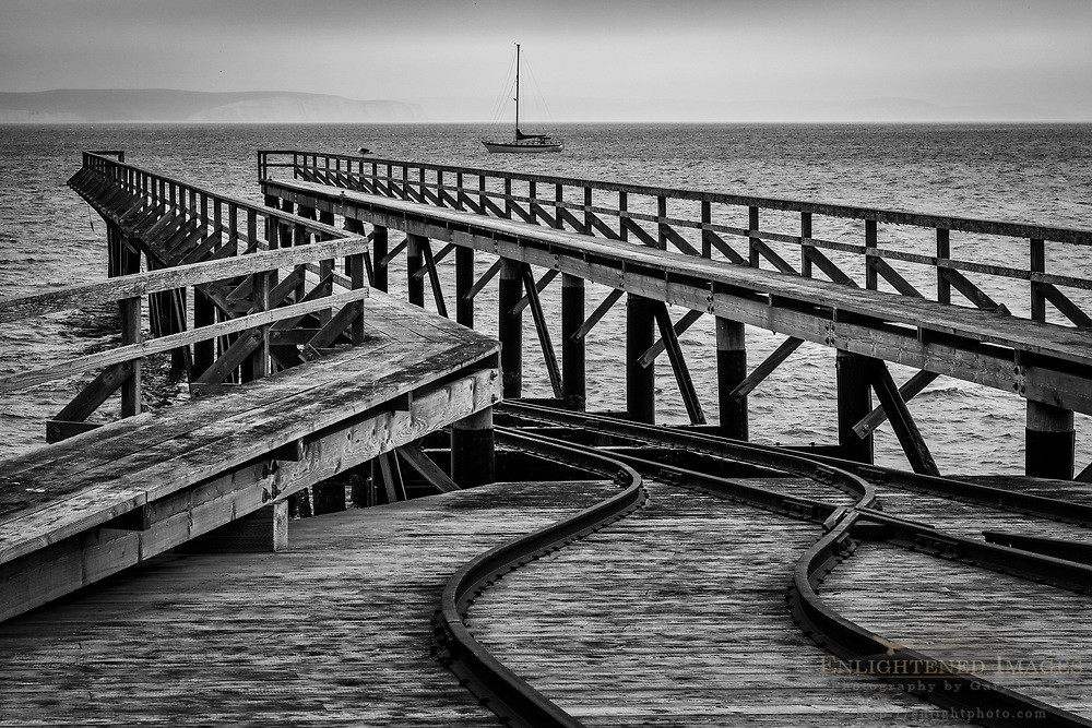 Boat Launch Ramp at the Historic Lifeboat Station on Drakes Bay, Point Reyes National Seashore, Marin County, California