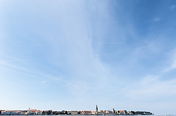 THEMENBILD - Porec ist eine Stadt an der Westkueste von der kroatischen Halbinsel Istrien, im Bild die Skyline von Porec . Aufgenommen am 12. April 2017 // Porec is a town on the western coast of the Croatian peninsula Istria, This picture shows the skyline of Porec, Porec, Croatia on 2017/04/12. EXPA Pictures © 2017, PhotoCredit: EXPA/ Sebastian Pucher