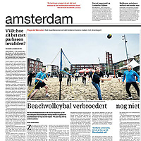 Parool 21 mei 2013: Mercatorplein beach-evenement