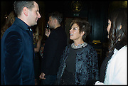 LUKE PARKER BOWLES;  PEGGY SIEGAL, Party to celebrate Vanity Fair's very British Hollywood issue. Hosted by Vanity Fair and Working Title. Beaufort Bar, Savoy Hotel. London. 6 Feb 2015