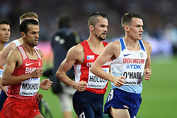 Chris O'Hare of Great Britain in action - Mandatory byline: Patrick Khachfe/JMP - 07966 386802 - 13/08/2017 - ATHLETICS - London Stadium - London, England - Men's 1500m Final - IAAF World Championships