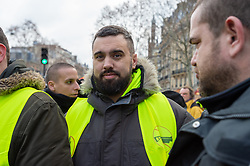 Éric Drouet, during the act 12 of yellow vests protest at the place Feix Eboue in Paris, France, on February 02, 2019. Photo by Serge Tenani/Avenir Pictures/ABACAPRESS.COM