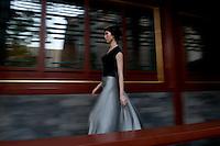 Miss Kathrin von Rechenberg fashion show at the Aman resort in Beijing.