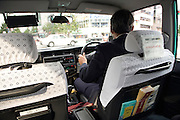 inside a Kyoto taxi