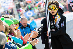Ryoyu Kobayashi (JPN) with fans during the Trial Round of the Ski Flying Hill Individual Competition at Day 1 of FIS Ski Jumping World Cup Final 2019, on March 21, 2019 in Planica, Slovenia. Photo by Vid Ponikvar / Sportida