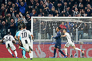 GOAL - Juventus Forward Cristiano Ronaldo celebrates 1-0 during the Champions League Group H match between Juventus FC and Manchester United at the Allianz Stadium, Turin, Italy on 7 November 2018.