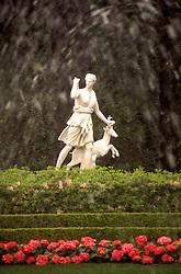 Stock photo of a sculpture in the gardens at Bayou Bend.