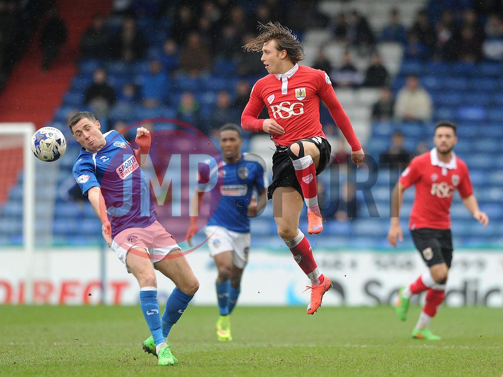 Bristol City's Luke Freeman plays a pass - Photo mandatory by-line: Dougie Allward/JMP - Mobile: 07966 386802 - 03/04/2015 - SPORT - Football - Oldham - Boundary Park - Bristol City v Oldham Athletic - Sky Bet League One