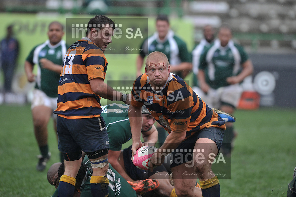 GEORGE, SOUTH AFRICA - Saturday 30 March 2013, Dolph Nel of Pretoria Police during the Cell C Community Cup Losers Semi-finals rugby match between Pacaltsdorp Evergreens and Pretoria Police held at the Outeniqua Stadium, George in the Western Cape Province..Photo by Luigi Bennett/ ImageSA