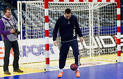 Dragan Gajic of Slovenia during practice session of Slovenia national team 1 day before handball match against Macedonia for 5th place at 10th EHF European Handball Championship Serbia 2012, on January 26, 2012 in Beogradska Arena, Belgrade, Serbia.  (Photo By Vid Ponikvar / Sportida.com)