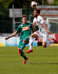 31.05.2015, Stadion Wolfsberg, Wolfsberg, AUT, 1. FBL, RZ Pellets WAC vs SK Rapid Wien, 35. Runde, im Bild v.l. Stefan Stangl (SK Rapid Wien) und Peter Tschernegg (RZ Pellets WAC) // during the Austrian Football Bundesliga 35th Round match between RZ Pellets WAC and SK Rapid Vienna at the Stadium Wolfsberg in Wolfsberg Austria on 2015/05/31, EXPA Pictures © 2015, PhotoCredit: EXPA/ Wolfgang Jannach