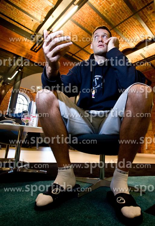 Goran Jagodnik (12) of Slovenia in a Andel's Hotel during Eurobasket 2009, on September 13, 2009 in  Lodz, Poland.  (Photo by Vid Ponikvar / Sportida)
