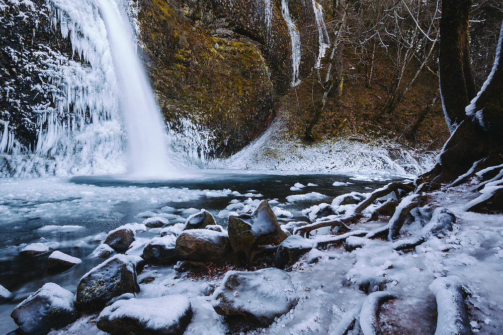 Horsetail Falls, Oregon, January 2016. © Jason Quigley