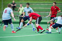 Southgate v Old Georgians - Men's Hockey League, East Conference, Trent Park, London, UK on 23September 2017. Photo: Simon Parker