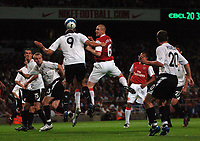 Photo: Tony Oudot.<br /> Arsenal v Sparta Prague. UEFA Champions League Qualifying. 29/08/2007.<br /> Philippe Senderos goes close with a header for Arsenal