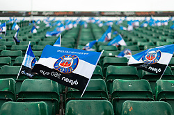 A general view of Bath Rugby flags in the east stand - Mandatory byline: Patrick Khachfe/JMP - 07966 386802 - 13/10/2018 - RUGBY UNION - The Recreation Ground - Bath, England - Bath Rugby v Toulouse - Heineken Champions Cup