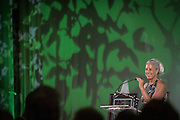 Jennifer Neubauer, Assistant Vice President for Alumni Relations & Executive Director of the Ohio University Alumni Association, gives the opening remarks during the 2016 Alumni Awards Gala at Ohio University's Baker Center Ballroom on Friday, October 07, 2016.