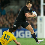 Israel Dagg, New Zealand, in action during the New Zealand V Australia Semi Final match at the IRB Rugby World Cup tournament, Eden Park, Auckland, New Zealand, 16th October 2011. Photo Tim Clayton...