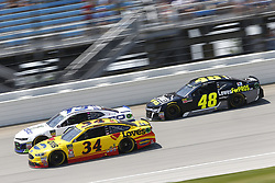 July 1, 2018 - Joliet, Illinois, United States of America - Michael McDowell (34) battles for position during the Overton's 400 at Chicagoland Speedway in Joliet, Illinois  (Credit Image: © Justin R. Noe Asp Inc/ASP via ZUMA Wire)