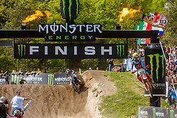 during MXGP Trentino race one, round 5 for MXGP Championship in Pietramurata, Italy on 16th of April, 2017 in Italy. Photo by Grega Valancic / Sportida