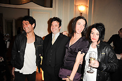 Left to right, TIM NOBLE, ?, MARY McCARTNEY and SUE WEBSTER at a dinner hosted by Vogue in honour of photographer David Bailey at Claridge's, Brook Street, London on 11th May 2010.