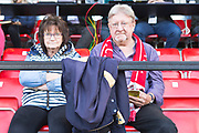 fans before the match during the EFL Sky Bet League 2 match between Salford City and Port Vale at Moor Lane, Salford, United Kingdom on 17 August 2019.